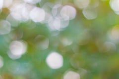 Αφηρημένο πράσινο θολωμένο υπόβαθρο φύσης με το bokeh, πράσινο υπόβαθρο bokeh Στοκ Εικόνες