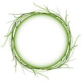 Αφηρημένο πράσινο διανυσματικό μόριο πλαισίων κύκλων χλόης Στοκ φωτογραφίες με δικαίωμα ελεύθερης χρήσης