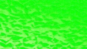 Αφηρημένο πράσινο κρυσταλλωμένο polygonal υπόβαθρο Κίνηση κυμάτων στη polygonal επιφάνεια με τις λεπτές γραμμές διανυσματική απεικόνιση