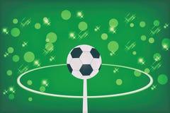 αφηρημένο πράσινο ποδόσφαι& Στοκ Εικόνες