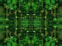 Αφηρημένο πράσινο σφαιρικό κύκλωμα Στοκ φωτογραφία με δικαίωμα ελεύθερης χρήσης