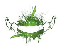 Πράσινο σχέδιο κορδελλών φύλλων διανυσματική απεικόνιση