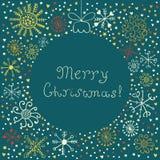 Αφηρημένο πράσινο υπόβαθρο σφαιρών Χριστουγέννων απεικόνιση αποθεμάτων