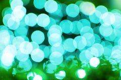 Αφηρημένο πράσινο υπόβαθρο Bokeh Στοκ Φωτογραφίες