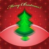 Αφηρημένο πράσινο χριστουγεννιάτικο δέντρο Στοκ εικόνες με δικαίωμα ελεύθερης χρήσης