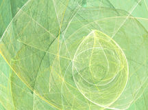 Αφηρημένο πράσινο fractal σχέδιο Στοκ Εικόνες