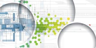 Αφηρημένο πράσινο hexagon υπόβαθρο Στοκ Φωτογραφία