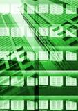 αφηρημένο πράσινο skuscraper ανασκό&pi Στοκ φωτογραφία με δικαίωμα ελεύθερης χρήσης