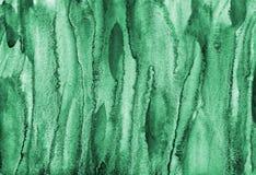 Αφηρημένο πράσινο watercolor στη σύσταση εγγράφου ως υπόβαθρο απεικόνιση αποθεμάτων
