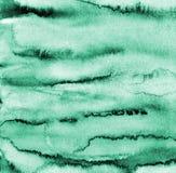 Αφηρημένο πράσινο watercolor στη σύσταση εγγράφου ως υπόβαθρο ελεύθερη απεικόνιση δικαιώματος