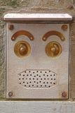 Αφηρημένο πρόσωπο Doorbell στοκ φωτογραφία