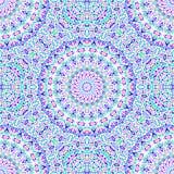 αφηρημένο πρότυπο άνευ ραφή&sig Mandalas στα μπλε, ρόδινα και πράσινα χρώματα ελεύθερη απεικόνιση δικαιώματος