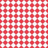 αφηρημένο πρότυπο άνευ ραφή&sig πρότυπο rhombuses άνευ ραφής Ο κόκκινος και άσπρος ρόμβος εκτελείται στο αναδρομικό ύφος διάνυσμα Στοκ Φωτογραφίες
