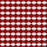 αφηρημένο πρότυπο άνευ ραφή&sig πρότυπο rhombuses άνευ ραφής Ο κόκκινος ρόμβος επίσης corel σύρετε το διάνυσμα απεικόνισης Στοκ Εικόνες