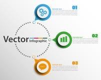 Αφηρημένο πρότυπο επιλογών αριθμού infographics με 3 βήματα στοκ εικόνα