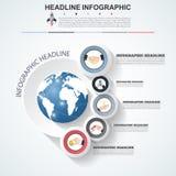 Αφηρημένο πρότυπο επιλογών αριθμού infographics Διανυσματικό illustrati Στοκ Εικόνα