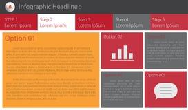 Αφηρημένο πρότυπο επιλογών αριθμού infographics επίσης corel σύρετε το διάνυσμα απεικόνισης μπορέστε να χρησιμοποιηθείτε για το σ Στοκ Εικόνες