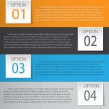 Αφηρημένο πρότυπο επιλογών αριθμού infographics επίσης corel σύρετε το διάνυσμα απεικόνισης μπορέστε να χρησιμοποιηθείτε για το σ Στοκ Φωτογραφία