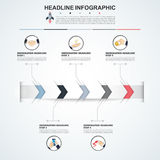 Αφηρημένο πρότυπο επιλογών αριθμού infographics διάνυσμα Στοκ εικόνες με δικαίωμα ελεύθερης χρήσης