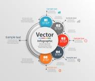 Αφηρημένο πρότυπο επιλογών αριθμού infographics με 5 βήματα Μπορέστε να χρησιμοποιηθείτε για το σχεδιάγραμμα ροής της δουλειάς, δ Στοκ φωτογραφία με δικαίωμα ελεύθερης χρήσης