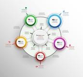 Αφηρημένο πρότυπο επιλογών αριθμού infographics με πέντε βήματα Στοκ φωτογραφία με δικαίωμα ελεύθερης χρήσης