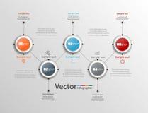 Αφηρημένο πρότυπο επιλογών αριθμού infographics με πέντε βήματα Στοκ Εικόνες