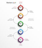 Αφηρημένο πρότυπο επιλογών αριθμού infographics με πέντε βήματα Στοκ φωτογραφίες με δικαίωμα ελεύθερης χρήσης
