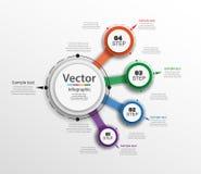 Αφηρημένο πρότυπο επιλογών αριθμού infographics με τέσσερα βήματα μπορέστε να χρησιμοποιηθείτε για το σχεδιάγραμμα ροής της δουλε Στοκ εικόνες με δικαίωμα ελεύθερης χρήσης