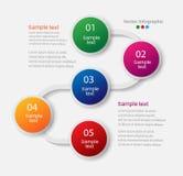Αφηρημένο πρότυπο επιλογών αριθμού infographics Στοκ φωτογραφία με δικαίωμα ελεύθερης χρήσης