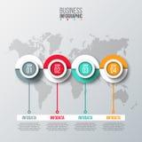 Αφηρημένο πρότυπο επιλογών αριθμού infographics απεικόνιση αποθεμάτων