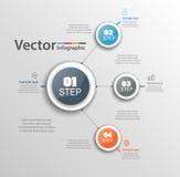 Αφηρημένο πρότυπο επιλογών αριθμού infographics Στοκ Φωτογραφίες