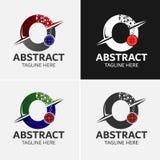 Αφηρημένο πρότυπο λογότυπων γραμμάτων Ο Στοκ φωτογραφία με δικαίωμα ελεύθερης χρήσης