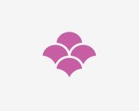 Αφηρημένο πρότυπο λογότυπων λουλουδιών Floral λογότυπο Λουλούδι Στοκ φωτογραφία με δικαίωμα ελεύθερης χρήσης