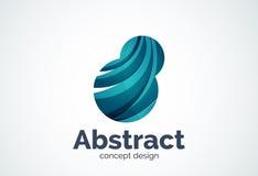 Αφηρημένο πρότυπο λογότυπων φυσαλίδων, έννοια σύννεφων σκέψης ή διόγκωση διανυσματική απεικόνιση