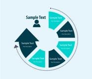 Αφηρημένο πρότυπο σχεδίου infographics, ροή διαδικασίας Στοκ Φωτογραφίες