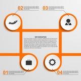 Αφηρημένο πρότυπο σχεδίου κύκλων infographic απεικόνιση αποθεμάτων