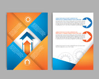 Αφηρημένο πρότυπο σχεδίου φυλλάδιων με το διάνυσμα εργαλείων Στοκ φωτογραφία με δικαίωμα ελεύθερης χρήσης
