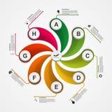Αφηρημένο πρότυπο σχεδίου infographics επιλογών διανυσματική απεικόνιση