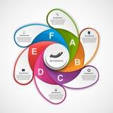 Αφηρημένο πρότυπο σχεδίου infographics επιλογών απεικόνιση αποθεμάτων