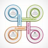 Αφηρημένο πρότυπο σχεδίου infographics απεικόνιση αποθεμάτων