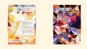Αφηρημένο πρότυπο σχεδιαγράμματος σχεδίου ιπτάμενων φυλλάδιων τριγώνων A4 Στοκ φωτογραφία με δικαίωμα ελεύθερης χρήσης