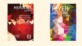 Αφηρημένο πρότυπο σχεδιαγράμματος σχεδίου ιπτάμενων φυλλάδιων τριγώνων A4 Στοκ εικόνες με δικαίωμα ελεύθερης χρήσης