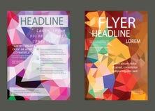 Αφηρημένο πρότυπο φυλλάδιων τριγώνων γεωμετρικό διανυσματικό Ιπτάμενο Layo Στοκ φωτογραφίες με δικαίωμα ελεύθερης χρήσης