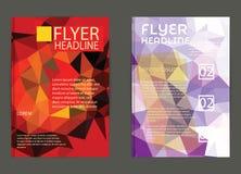 Αφηρημένο πρότυπο φυλλάδιων τριγώνων γεωμετρικό διανυσματικό Ιπτάμενο Layo Στοκ Εικόνες