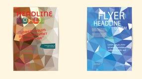 Αφηρημένο πρότυπο φυλλάδιων τριγώνων γεωμετρικό διανυσματικό Ιπτάμενο Layo Στοκ φωτογραφία με δικαίωμα ελεύθερης χρήσης