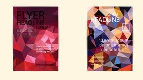 Αφηρημένο πρότυπο φυλλάδιων τριγώνων γεωμετρικό διανυσματικό Στοκ φωτογραφία με δικαίωμα ελεύθερης χρήσης