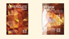 Αφηρημένο πρότυπο φυλλάδιων τριγώνων γεωμετρικό διανυσματικό Στοκ εικόνες με δικαίωμα ελεύθερης χρήσης