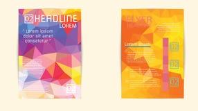 Αφηρημένο πρότυπο φυλλάδιων τριγώνων γεωμετρικό διανυσματικό Ιπτάμενο Layo Στοκ Φωτογραφίες