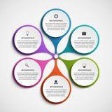 Αφηρημένο πρότυπο infographics επιλογών Infographics για το έμβλημα επιχειρησιακών παρουσιάσεων ή πληροφοριών Στοκ φωτογραφίες με δικαίωμα ελεύθερης χρήσης