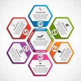 Αφηρημένο πρότυπο infographics επιλογών Infographics για το έμβλημα επιχειρησιακών παρουσιάσεων ή πληροφοριών Στοκ φωτογραφία με δικαίωμα ελεύθερης χρήσης